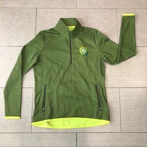 NWT Nike Rio Golf Fleece Lined Half Zip Pullover